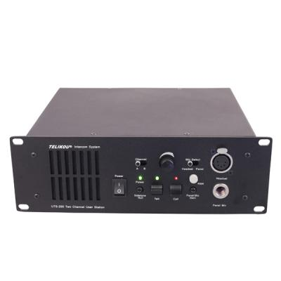UTS-200 two channel speaker station for broadcast TV station theater studio room integration system