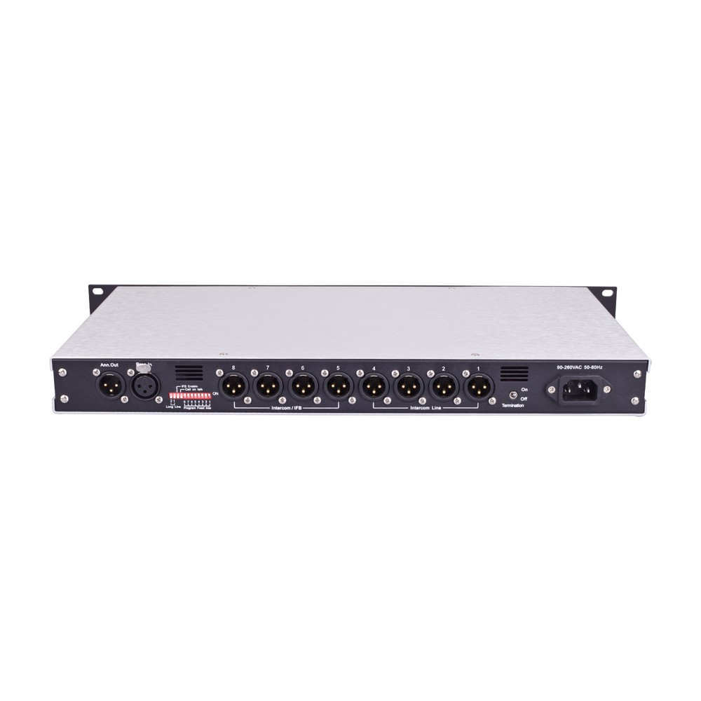 TELIKOU TM-800 eight channel wired party line intercom main station master station for broadcast television station, communication center, UB truck, live performance, theater, football games